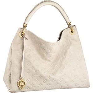 Louis Vuitton Artsy MM Neige Empreinte Hobo Bag